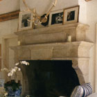 Custom made country fireplace