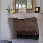 18th century reclaimed French fireplace