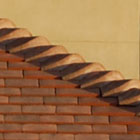 Traditional Terracotta Shingles Hip detail