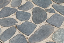 stone pebble paving floor blue colors
