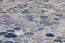 stone pebble paving floor blended colors