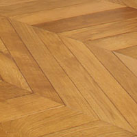 Solid Chevron Euro oak floor