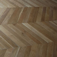 Solid Chevron French oak floor