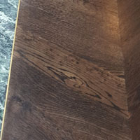 Chevron dark brown oak