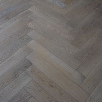 Solid Herringbone leached grey finish