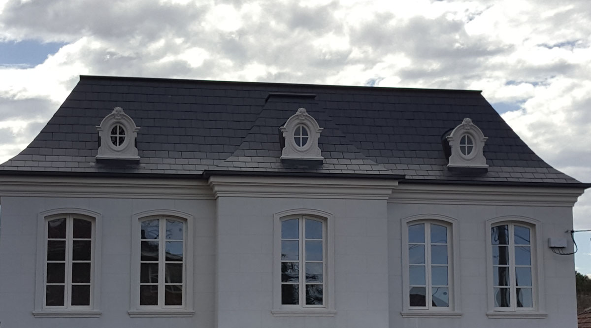 TGH - French provincial roof and dormer windows