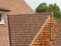 Interlocking terracotta shingles Darling Point Sydney